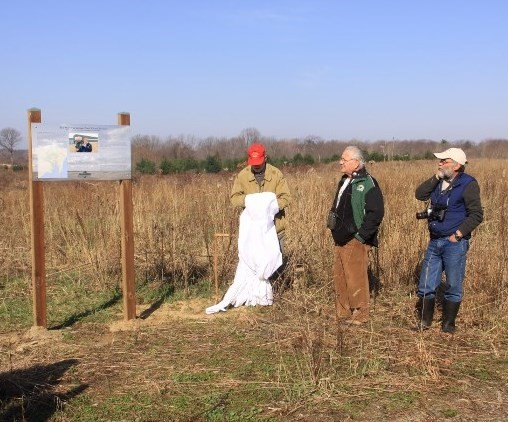 The official dedication of the George and Shirley Pond Nature Reserve
