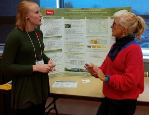 Photo showing Brooke Kapeller, Masters student at Brock and Valerie Hickey, Member, LPWBRF